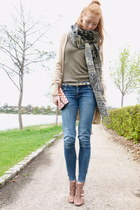 blue Dr Denim jeans - camel Inwear cardigan
