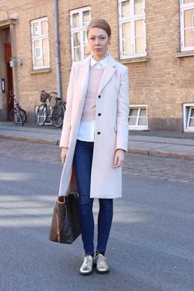 8c488dd0c0d Light Pink Zara Coats, Gold Vintage Shoes, Light Pink Topshop ...
