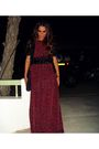 Red-fullah-sugah-dress-black-zara-belt