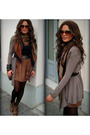 Brown-boots-brown-skirt