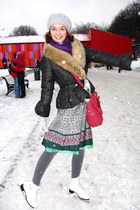 d212caefa6 Moncler coat - Worford tights - Etro bag. red Accessorize necklace - dark  green worn as blouse LTB dress. black Zara ...