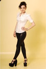 Black-black-snake-american-apparel-leggings-white-puff-sleeve-h-m-shirt-jeff