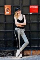 black SWEET BITZ Cap hat - silver BAZZR jeans - black LUXUSEYES sunglasses