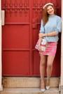 Light-blue-daxon-sweater-hot-pink-tesha-skirt-light-blue-stradivarius-heels