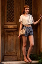 navy choiescom shorts - bronze Eleni Athini sandals