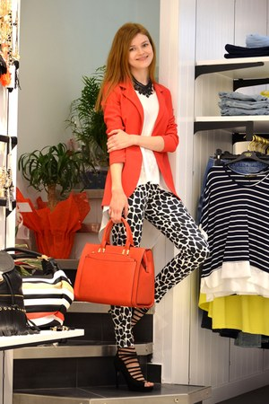 black Cento Jeans shoes - red Cento Jeans blazer - red Cento Jeans bag