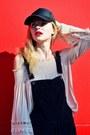 Beige-forever-21-dress-black-new-dress-cap-hat-black-forever-21-bag