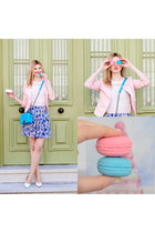 sky blue SIMILAR dress - light pink SIMILAR jacket - sky blue NEWDRES bag