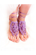 amethyst cotton sandals