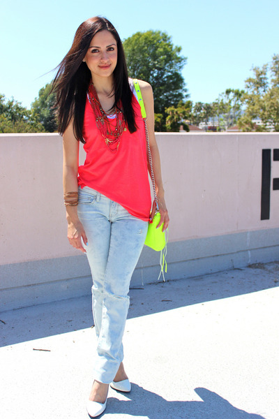 American Eagle jeans - Rebecca Minkoff purse - American Eagle top - Gucci heels