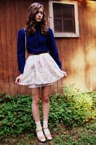 light pink floral vintage skirt - pink floral vintage purse