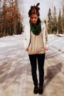 Navy-mossimo-jeans-beige-outer-edge-jacket-dark-khaki-gap-top-dark-brown-t