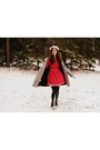 Silver-vintage-coat-ruby-red-handmade-vintage-dress