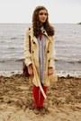 Eggshell-trench-tulle-coat-sky-blue-dress-tommy-hilfiger-shirt