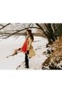 Silver-charlotte-russe-scarf-red-handmade-vintage-dress