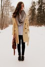 Silver-charlotte-russe-scarf-eggshell-tulle-coat-black-wet-seal-leggings