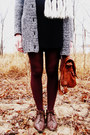 Cream-vintage-scarf-brown-vintage-boots-charcoal-gray-target-sweater