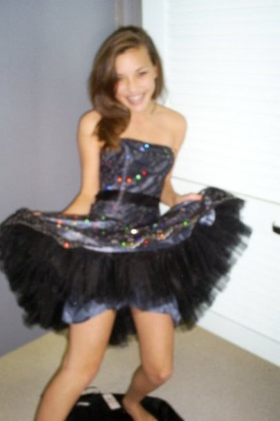 black maceys dress