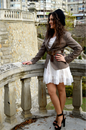 Zara blazer - Molly Bracken dress - Zara sandals
