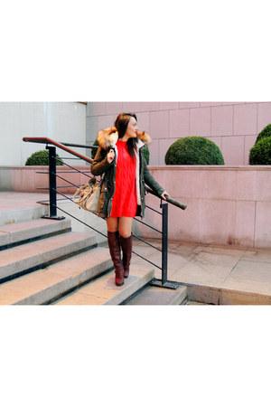 Jessica Simpson boots - Bershka jacket - Burberry bag