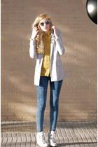 Stradivarius blazer - pull&bear jeans - Claires sunglasses - Bershka blouse