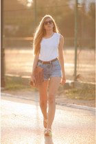 suiteblanco bag - Springfield shirt - Levis shorts - Primark sunglasses