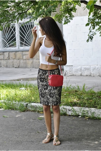 Mango skirt - H&M top - Zara sandals