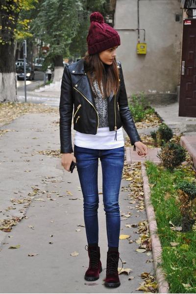 Mango jacket - H&M boots - Zara hat