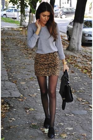 leopard print asos skirt - Massimo Dutti shoes