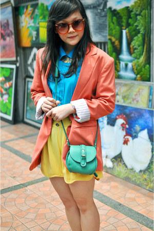 tosca sling OASAP bag - pink Forever 21 blazer - choker Topshop necklace
