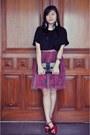 Ivory-clutch-dorothy-perkins-bag-black-thrifted-vintage-blouse