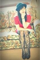wedges Bata shoes - hot pink JessJess dress
