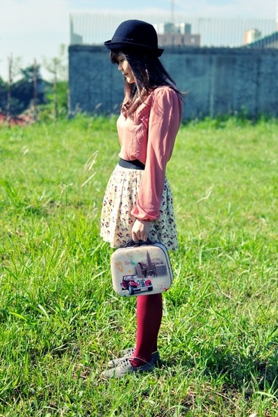 Miss Selfridge blouse - lace up oxfords Marks&Spencer flats