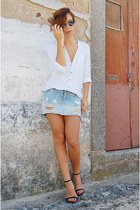 blue trash denim pull&bear skirt - clubmaster Ebay sunglasses