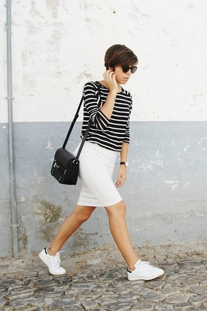 black Mango bag - black Parfois sunglasses - white Adidas sneakers