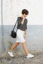 black Mango bag - black Parfois sunglasses - white Adidas sneakers