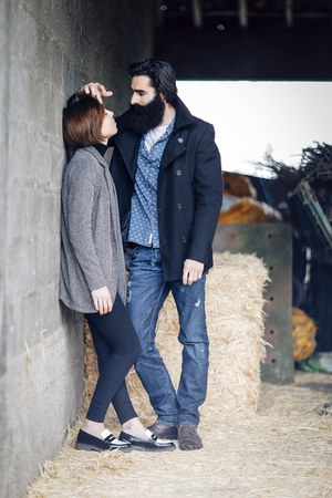 navy Diesel jeans - black pull&bear jeans - dark brown Levis boots