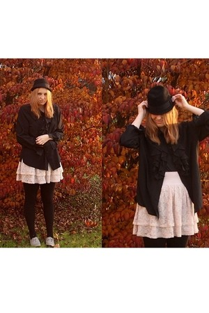 H&M skirt - H&M shoes - H&M hat - vintage blouse