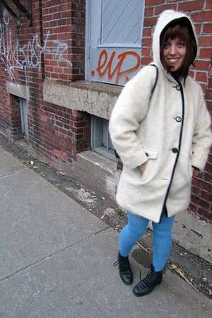 Irving Possluns coat - American Aparel leggings - Aldo shoes