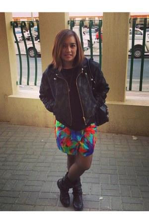 Zara skirt - Zara boots - Zara jacket