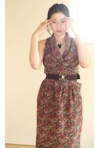 brick red diy dress Vintage costume dress - bronze Forever 21 ring - black rando