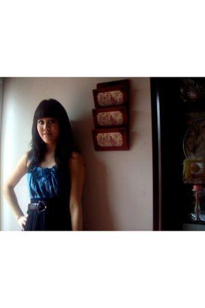 blue Forever 21 top - blue H&M skirt
