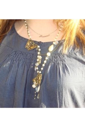 Promod necklace - Promod blouse
