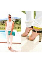 clutch american a bag - Zara heels
