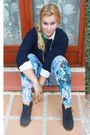 Blue-h-m-leggings-navy-vintage-top