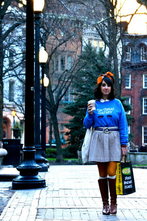 blue gatsby modcloth sweatshirt - brown Michael Kors boots