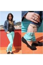 aquamarine Ferrache pants