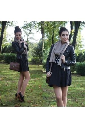 black Zara sweater - camel PERSUNMALL scarf