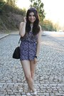 Black-floral-print-h-m-dress-deep-purple-firmoo-sunglasses