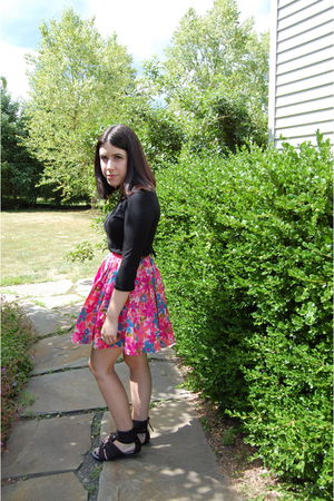 black lucca couture shirt - black Zara shoes - pink Tracy Feith skirt
